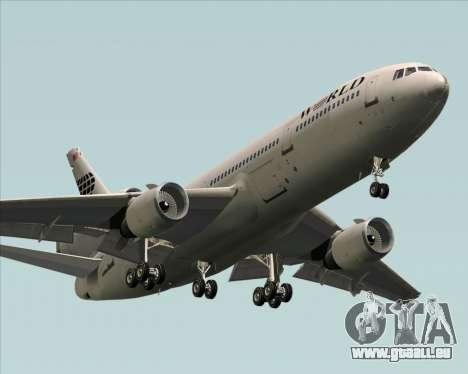 McDonnell Douglas DC-10-30 World Airways für GTA San Andreas Innenansicht