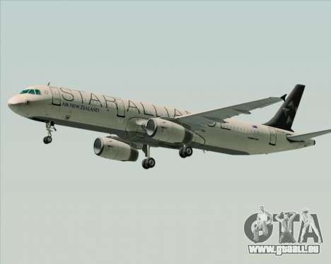 Airbus A321-200 Air New Zealand (Star Alliance) pour GTA San Andreas sur la vue arrière gauche