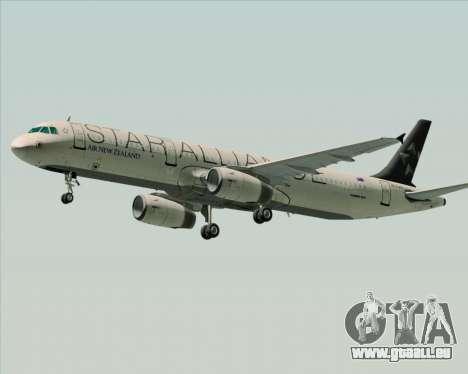 Airbus A321-200 Air New Zealand (Star Alliance) für GTA San Andreas zurück linke Ansicht