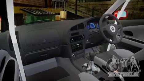 Mitsubishi Lancer Evolution VI 2000 Rally pour GTA 4 Vue arrière