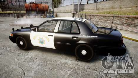 Ford Crown Victoria CHP CVPI Slicktop [ELS] pour GTA 4 est une gauche