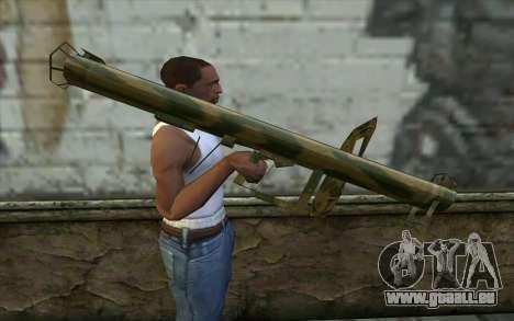 Panzerschreck à partir du Jour de la Défaite pour GTA San Andreas troisième écran