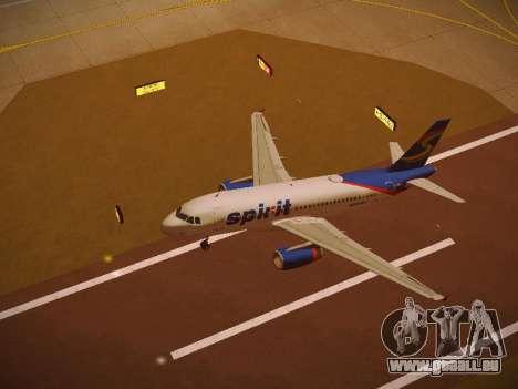 Airbus A319-132 Spirit Airlines pour GTA San Andreas salon