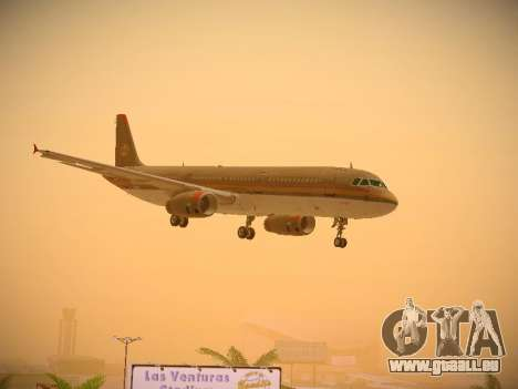 Airbus A321-232 Royal Jordanian Airlines für GTA San Andreas Seitenansicht