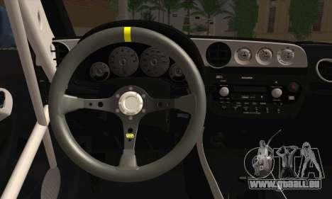 Honda Integra DC5 Stance pour GTA San Andreas sur la vue arrière gauche