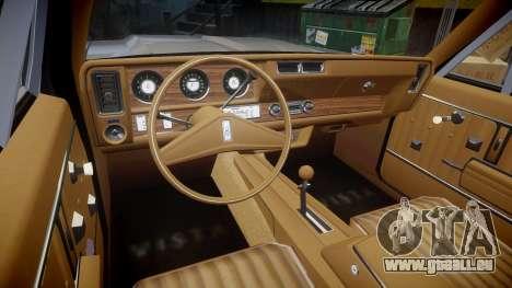 Oldsmobile Vista Cruiser 1972 Rims1 Tree1 pour GTA 4 Vue arrière