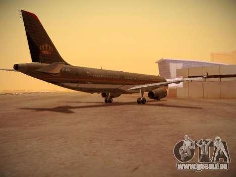 Airbus A321-232 Royal Jordanian Airlines für GTA San Andreas rechten Ansicht
