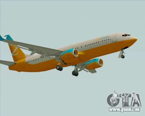 Boeing 737-800 Orbit Airlines für GTA San Andreas linke Ansicht