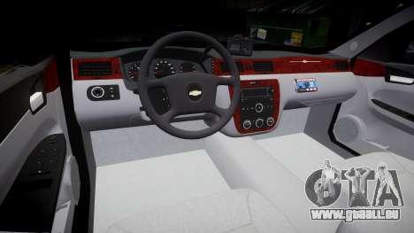 Chevrolet Impala 2010 Undercover [ELS] pour GTA 4 Vue arrière