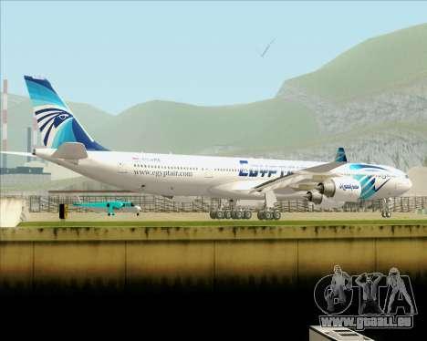 Airbus A340-600 EgyptAir für GTA San Andreas obere Ansicht