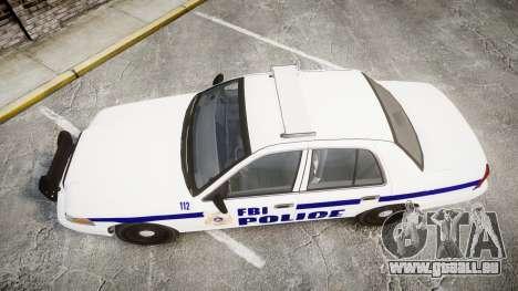 Ford Crown Victoria F.B.I. Police [ELS] pour GTA 4 est un droit