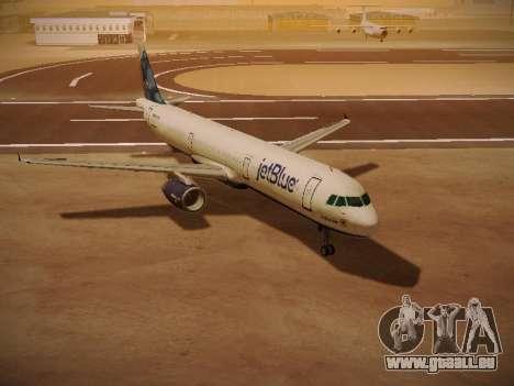 Airbus A321-232 jetBlue La vie en Blue für GTA San Andreas linke Ansicht
