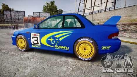 Subaru Impreza WRC 1998 World Rally pour GTA 4 est une gauche
