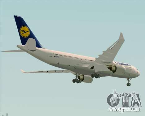Airbus A330-200 Lufthansa für GTA San Andreas Seitenansicht
