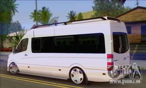 Mercedes-Benz Sprinter Servis pour GTA San Andreas laissé vue