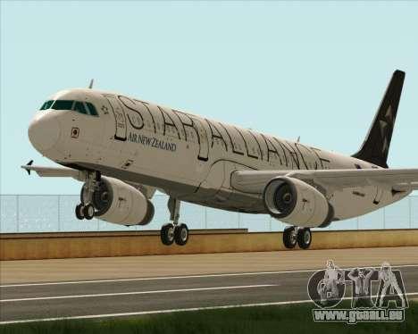 Airbus A321-200 Air New Zealand (Star Alliance) für GTA San Andreas