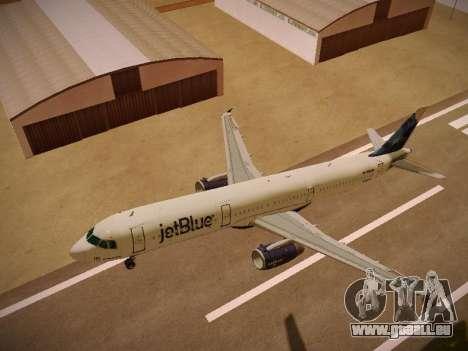 Airbus A321-232 jetBlue La vie en Blue für GTA San Andreas Innen