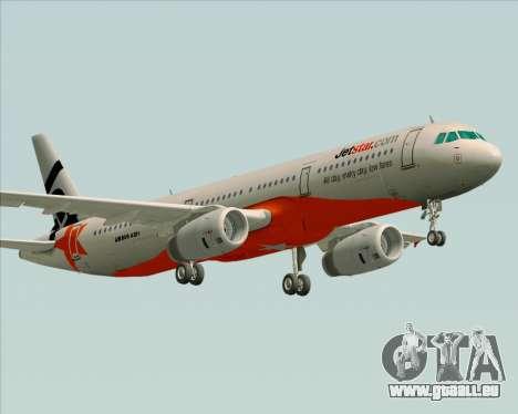 Airbus A321-200 Jetstar Airways für GTA San Andreas rechten Ansicht