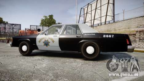 Ford LTD Crown Victoria 1987 Police CHP2 [ELS] pour GTA 4 est une gauche