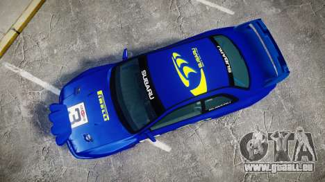 Subaru Impreza WRC 1998 Rally v3.0 Yellow für GTA 4 rechte Ansicht