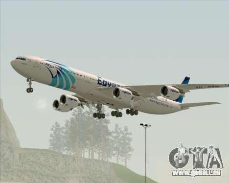 Airbus A340-600 EgyptAir pour GTA San Andreas vue de droite