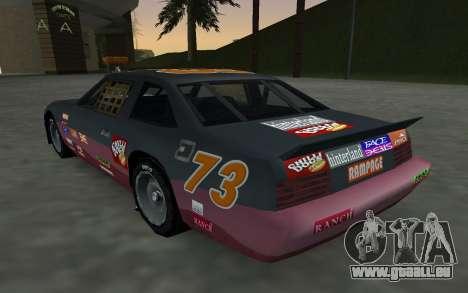 De nouveaux autocollants et non Hotring pour GTA San Andreas vue arrière