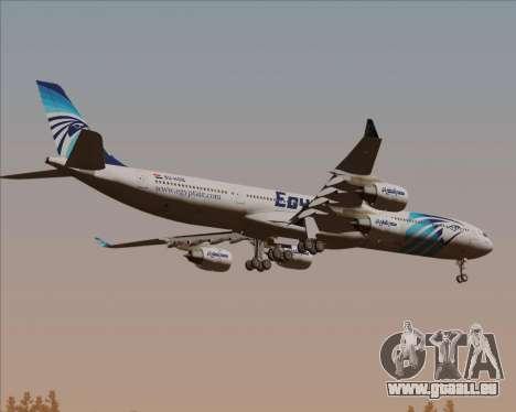 Airbus A340-600 EgyptAir für GTA San Andreas Rückansicht