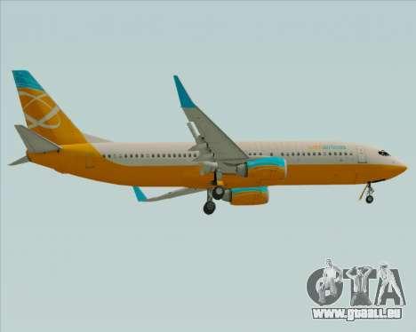 Boeing 737-800 Orbit Airlines pour GTA San Andreas vue de droite