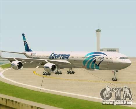 Airbus A340-600 EgyptAir für GTA San Andreas Innenansicht