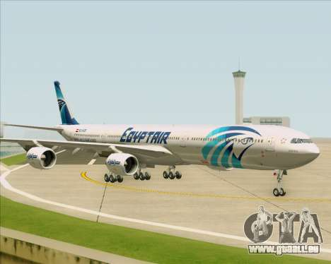 Airbus A340-600 EgyptAir pour GTA San Andreas vue intérieure