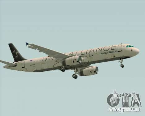 Airbus A321-200 Air New Zealand (Star Alliance) für GTA San Andreas Rückansicht