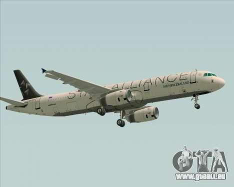 Airbus A321-200 Air New Zealand (Star Alliance) für GTA San Andreas Rückansicht