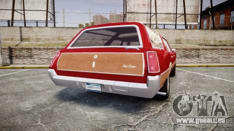 Oldsmobile Vista Cruiser 1972 Rims1 Tree2 pour GTA 4 Vue arrière de la gauche