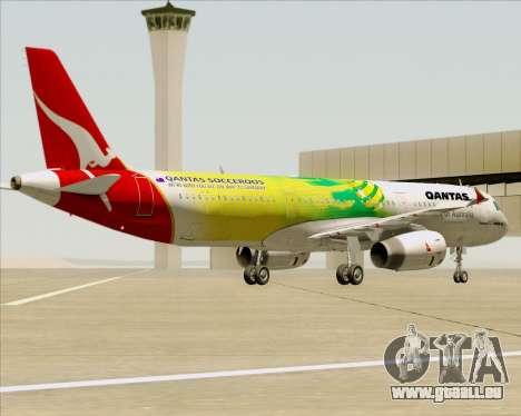 Airbus A321-200 Qantas (Socceroos Livery) pour GTA San Andreas roue
