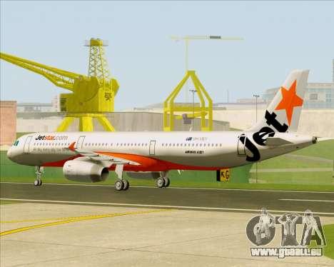 Airbus A321-200 Jetstar Airways für GTA San Andreas Rückansicht