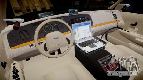 Ford Crown Victoria CHP CVPI Liberty [ELS] pour GTA 4 Vue arrière