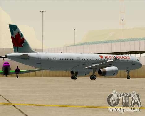 Airbus A321-200 Air Canada pour GTA San Andreas roue