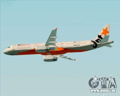 Airbus A321-200 Jetstar Airways für GTA San Andreas Räder