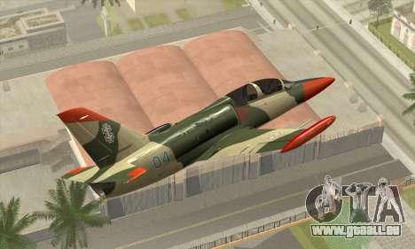 Aero L-39C pour GTA San Andreas sur la vue arrière gauche