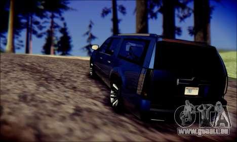 Cadillac Escalade Ninja für GTA San Andreas Seitenansicht