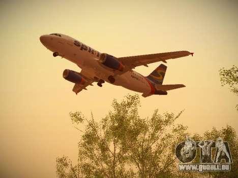 Airbus A319-132 Spirit Airlines für GTA San Andreas Innenansicht