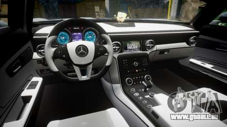 Mercedes-Benz SLS AMG GT-3 low für GTA 4 Rückansicht