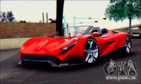 Specter Roadster 2013 (SA Plate) pour GTA San Andreas