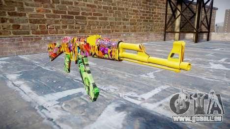 АК-47 graffiti camo pour GTA 4