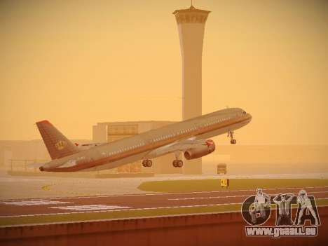 Airbus A321-232 Royal Jordanian Airlines pour GTA San Andreas salon