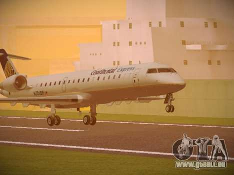 Bombardier CRJ-700 Continental Express für GTA San Andreas linke Ansicht