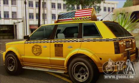 VAPID Huntley Taxi (Saints Row 4 Style) pour GTA San Andreas laissé vue