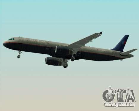 Airbus A321-200 United Airlines pour GTA San Andreas vue de côté