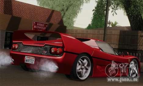 Ferrari F50 1995 Autovista pour GTA San Andreas laissé vue