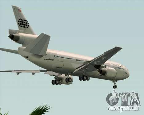 McDonnell Douglas DC-10-30 World Airways für GTA San Andreas obere Ansicht